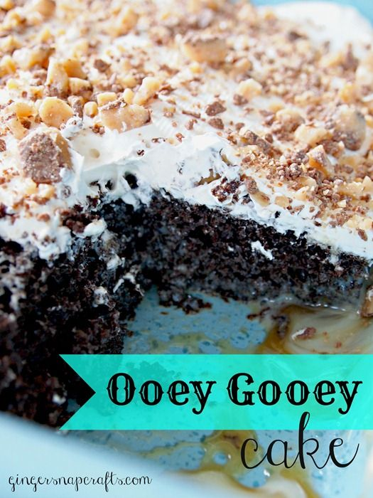 Ooey Gooey Cake made with #CoolWhipFrosting #CBias
