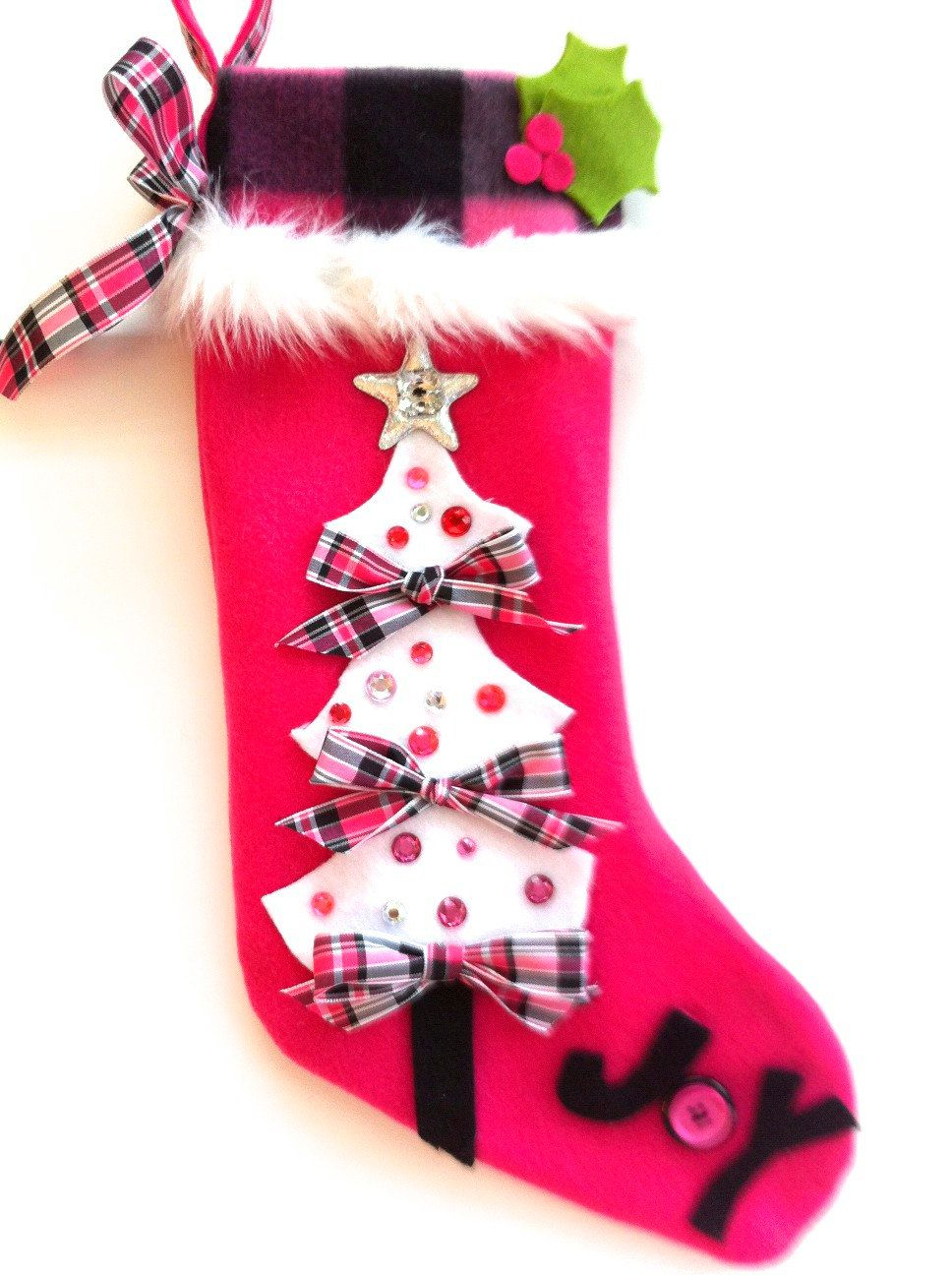 little girls christmas stocking 2500 via etsy - Girls Christmas Stocking