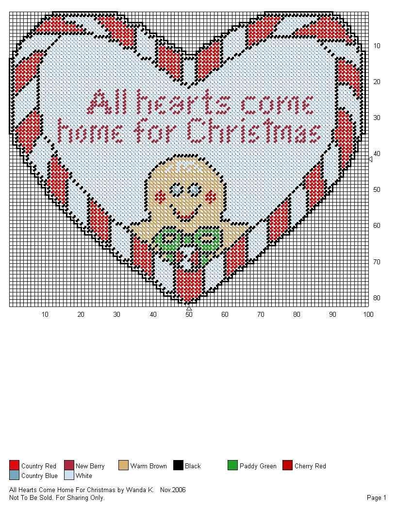 ALL HEARTS COME HOME FOR CHRISTMAS by WANDA K.   CHRISTMAS PLASTIC ...