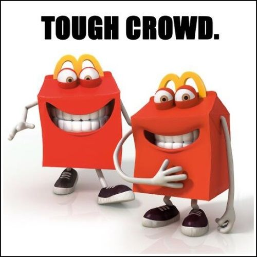 Mcdonald's chooses a new Mascot. Everyone agrees they are the creepiest things ever. Mcdonalds decides it doesn't mind and keeps them.