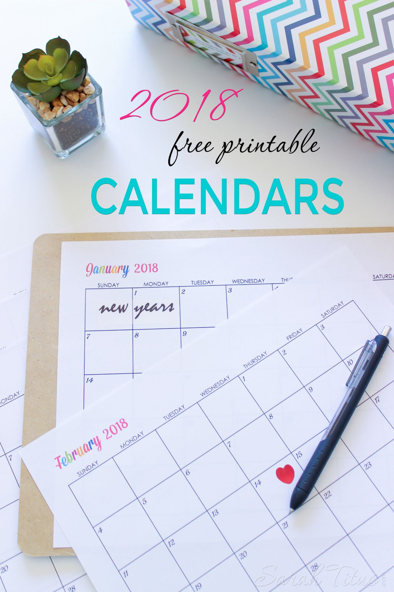 custom editable free printable 2018 calendars saved for later
