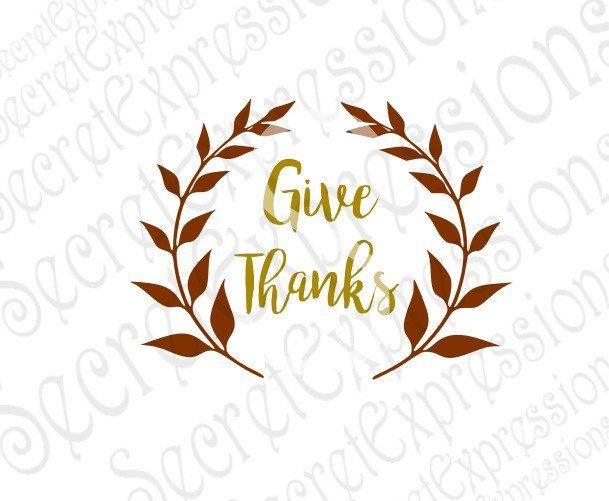 Give Thanks Svg Fall Svg Autumn Svg Fall Sign Svg Thanksgiving Svg Sign Digital Svg Etsy Store Banner Sign Stencils