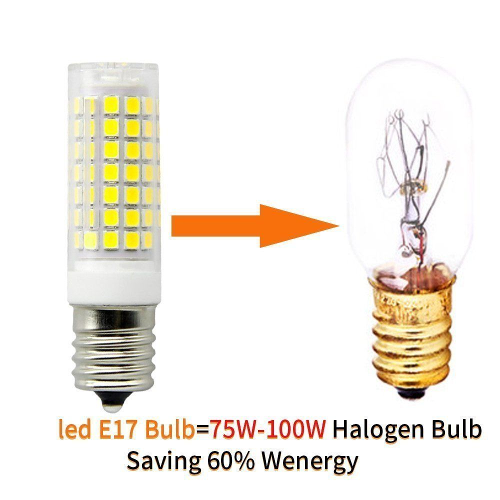 E17 Led Bulb For Microwave Oven Over Stove Appliance 7 Watt75w Halogen Bulbs Equivalent 110130v Intermediate Base Dimmable 2p Halogen Bulbs Led Bulb Light Bulb