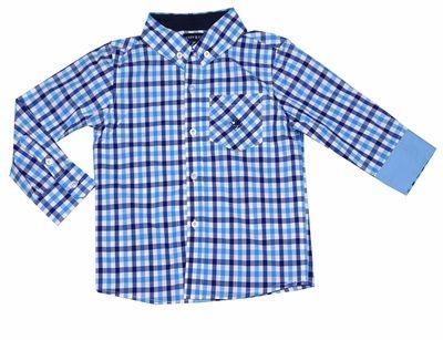 Andy /& Evan Boys Formal Check Shirt-Toddler