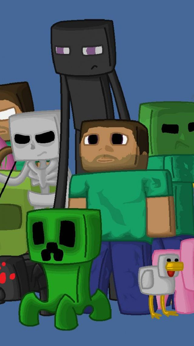 Minecraft Characters Game Pixels Java 97026 640x1136 Jpg 640 1136