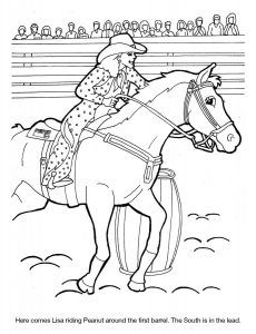Dixie Stampede Coloring Sheet Lisa Peanut Barrel Racing