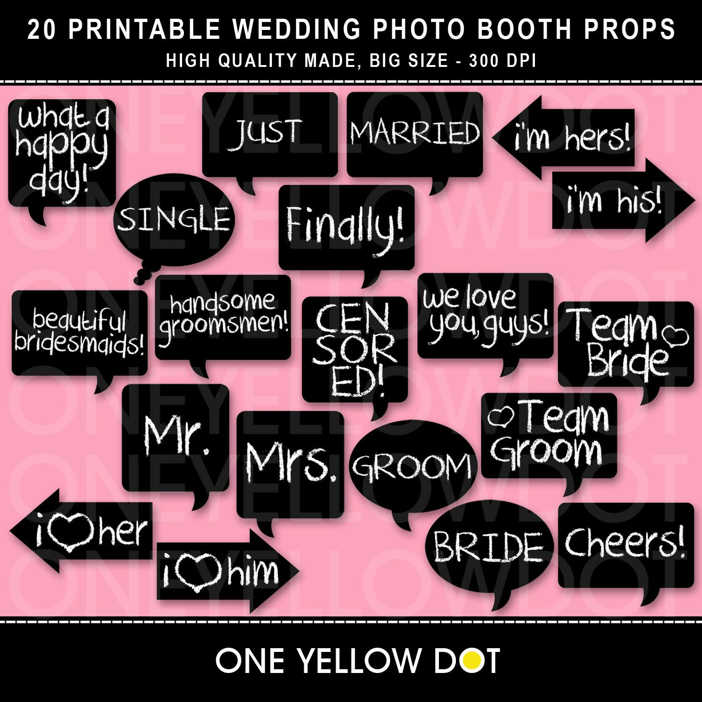 Wedding Photo Booth Props Printable Pdf