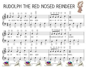 Leichte Klaviermusik Rudolph The Red Nosed Rentier - #Klaviermusik #Leichte #lessons #Nosed #Red #Rentier #Rudolph #pianomusic