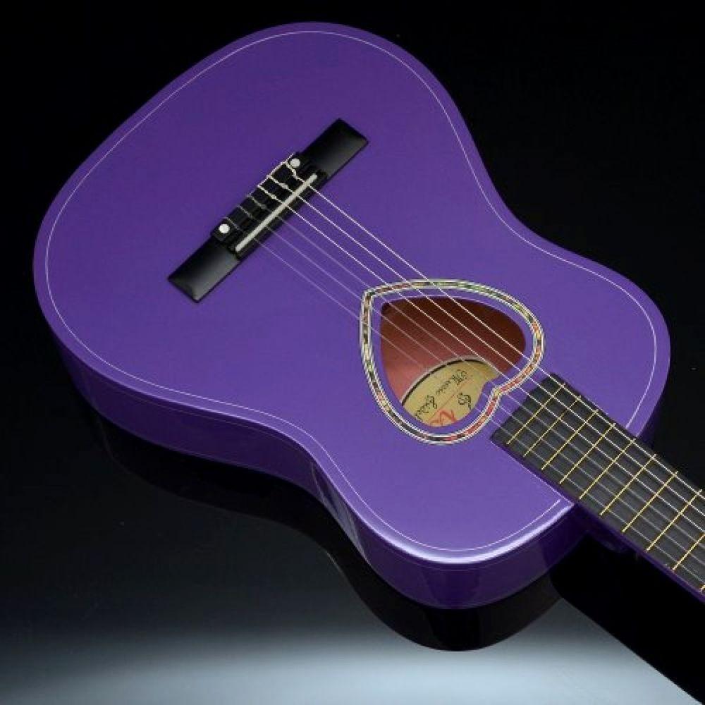Acoustic Guitar For Kids 1 2 Size Classical Belt Case Extra Set Strings Purple Guitar Kids Acoustic Guitar Guitar