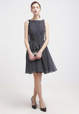 Swing - Cocktailkleid   festliches Kleid - schwarz-blau weiß ... bc4b126b7d