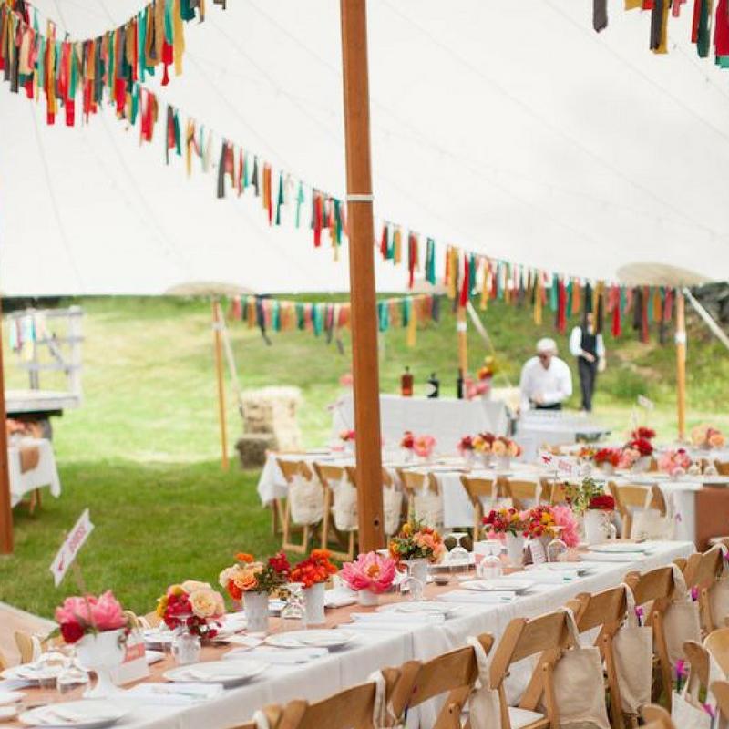 Casual Outdoor Wedding Reception Ideas: 4 Beautiful DIY Wedding Bunting Ideas