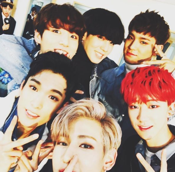 Bambam Shares Group Shot With 97 Liners From Got7 Bts And Seventeen Soompi Got7 Yugyeom Yugyeom Got7