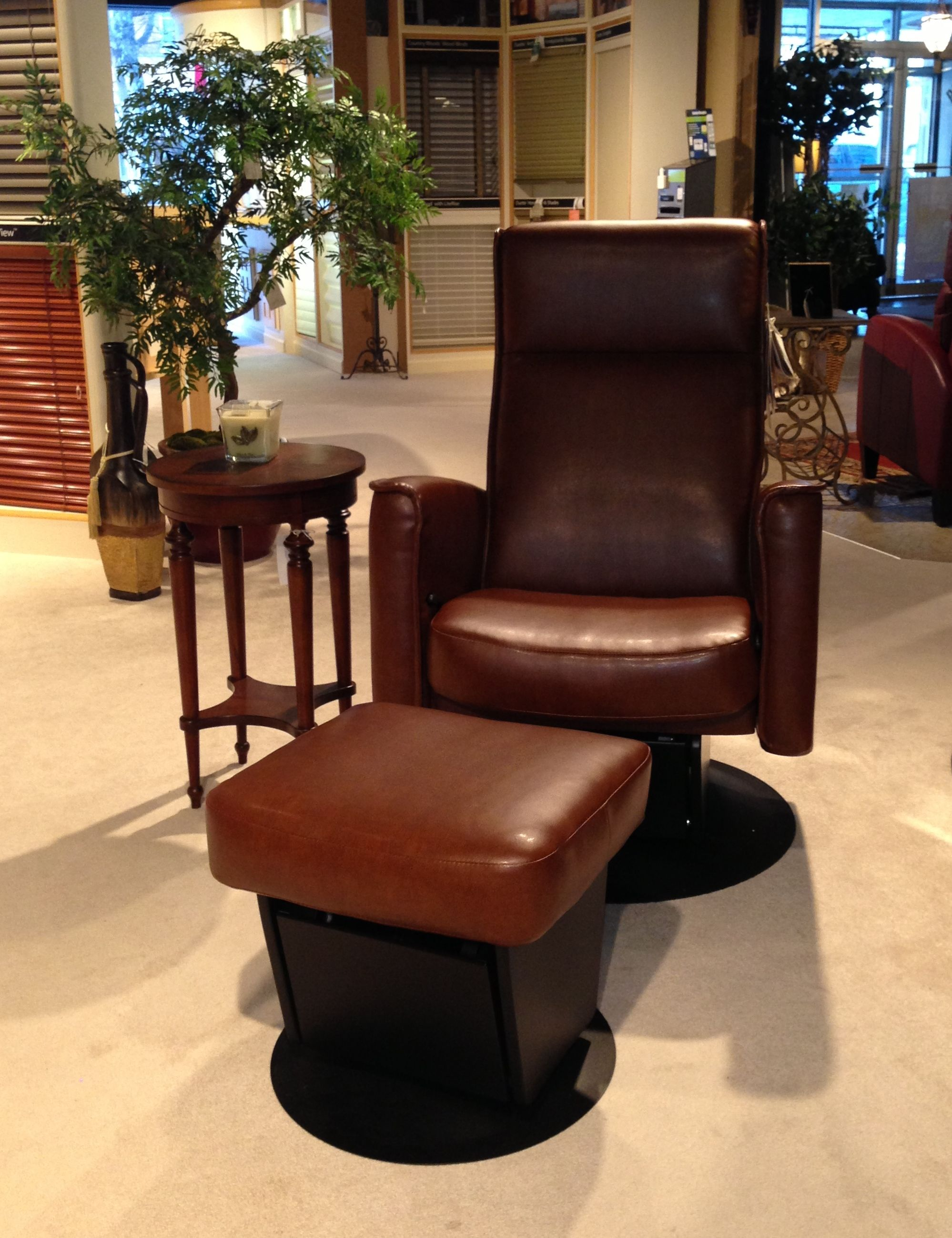 Dutalier Glider With Ottoman Glide Lock Recline And Swivel 28 W X 34 D X 41 H Bonded
