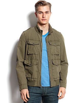 80ab2353f Levi's Parachute Cotton Bomber Jacket - Coats & Jackets - Men ...