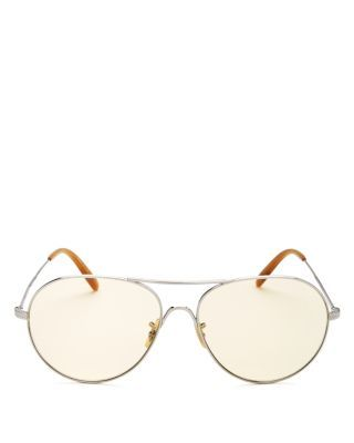 2a81d4ade7a OLIVER PEOPLES Rockmore Oversized Aviator Sunglasses