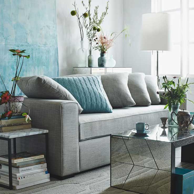 incredible west elm living room decorating inspiratio   9 Inspiring Blue Rooms   west elm   West Elm Archives ...