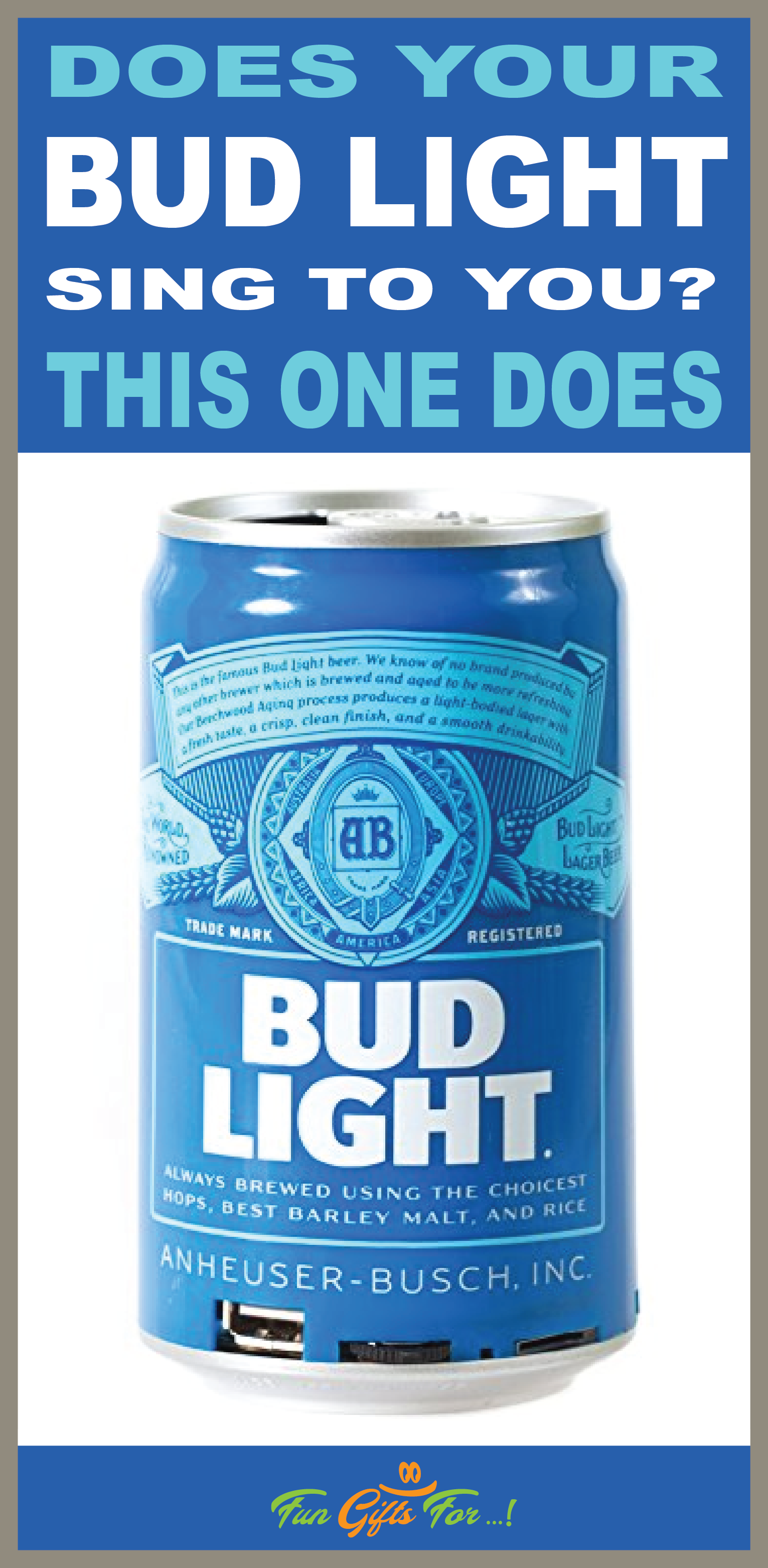 Beer Drinkers will love this blue tooth speaker! Great for