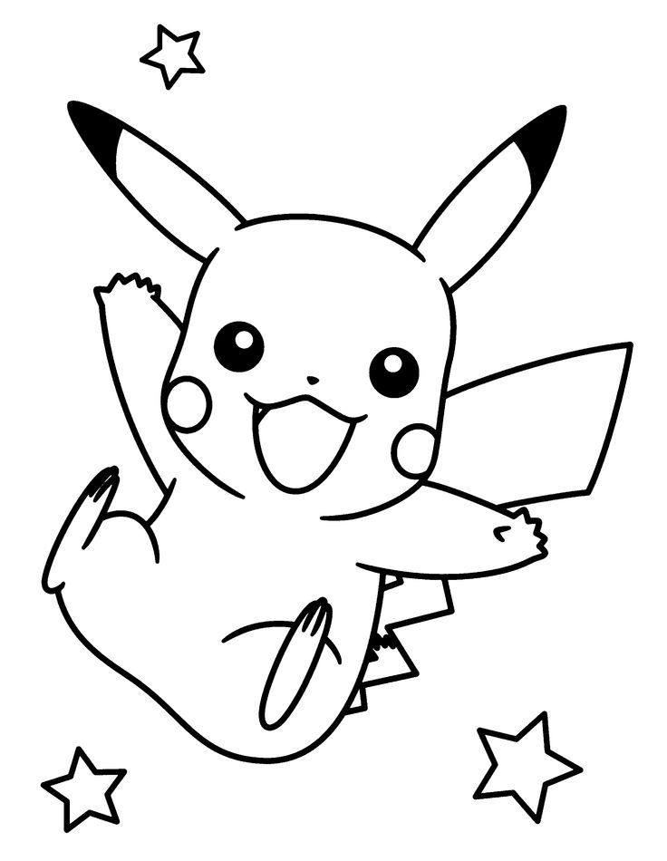 Pikachu Coloring Pages 4