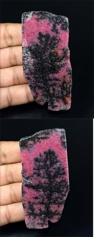 Rhodonite 181101: 254.95 Cts. 100 % Natural Huge Rhodonite Rough Slice For Making Cabochons -> BUY IT NOW ONLY: $38.0 on eBay!