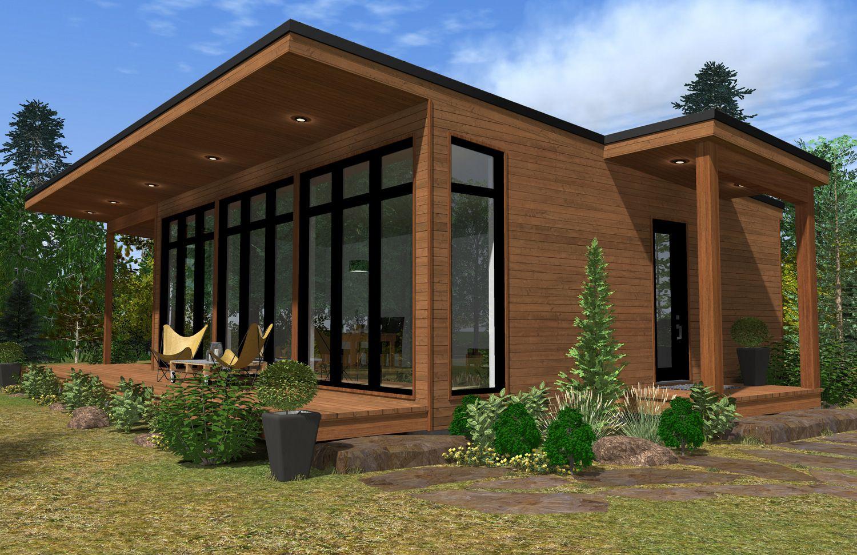 Pingl par habitation kyo sur mini maison passive pinterest for Mini maison usinee