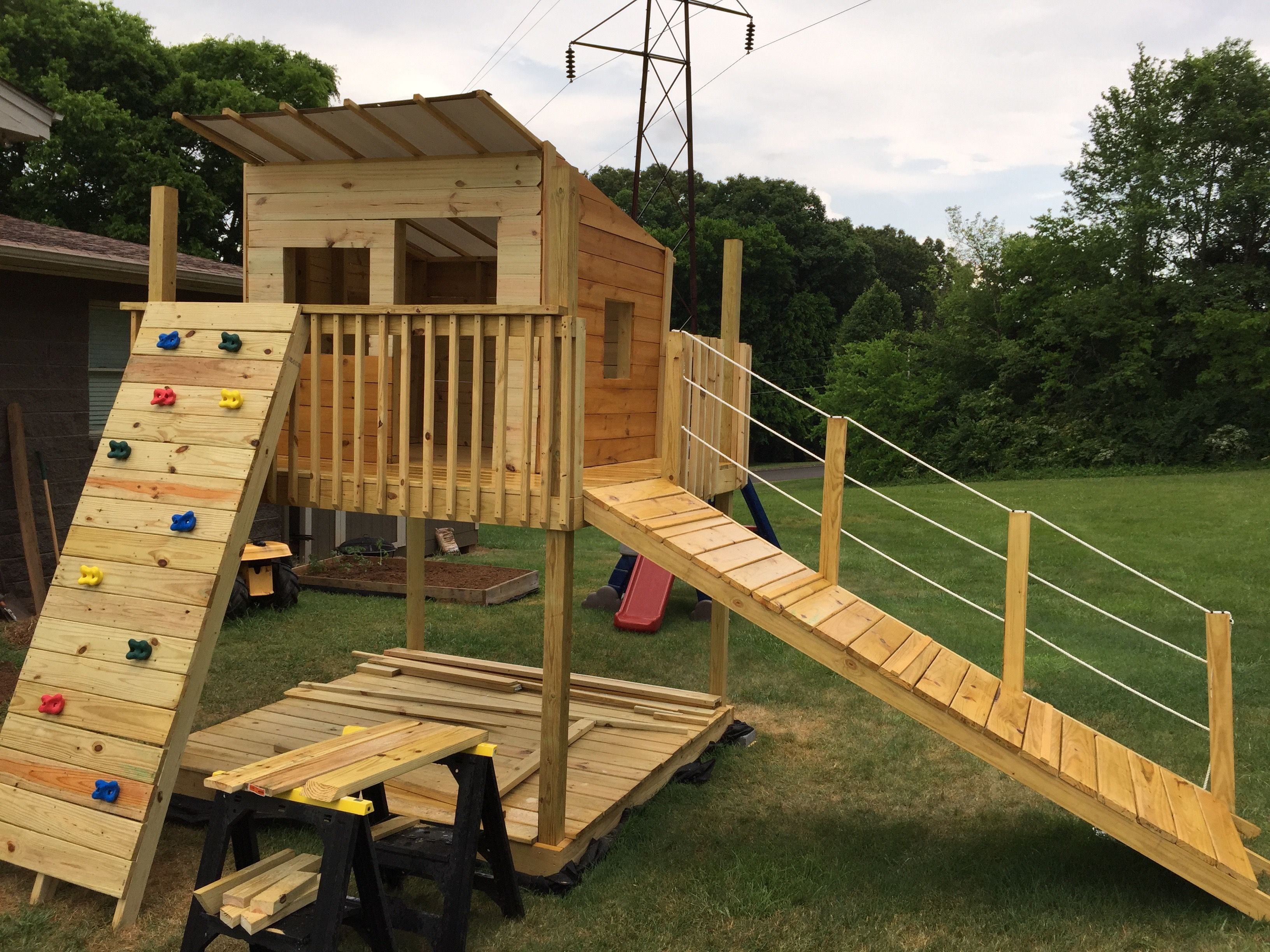 Ana white play fort and swing set diy projects play