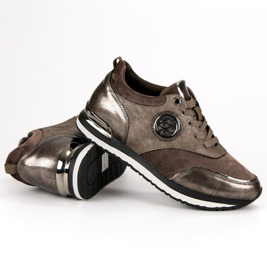 Aclys Wiazane Buty Sportowe Brazowe Shoes Sneakers Fashion