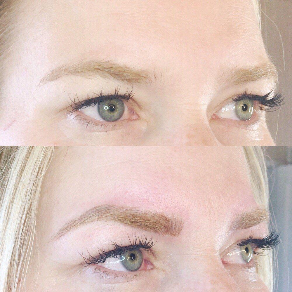 permanent make up augenbrauen blond