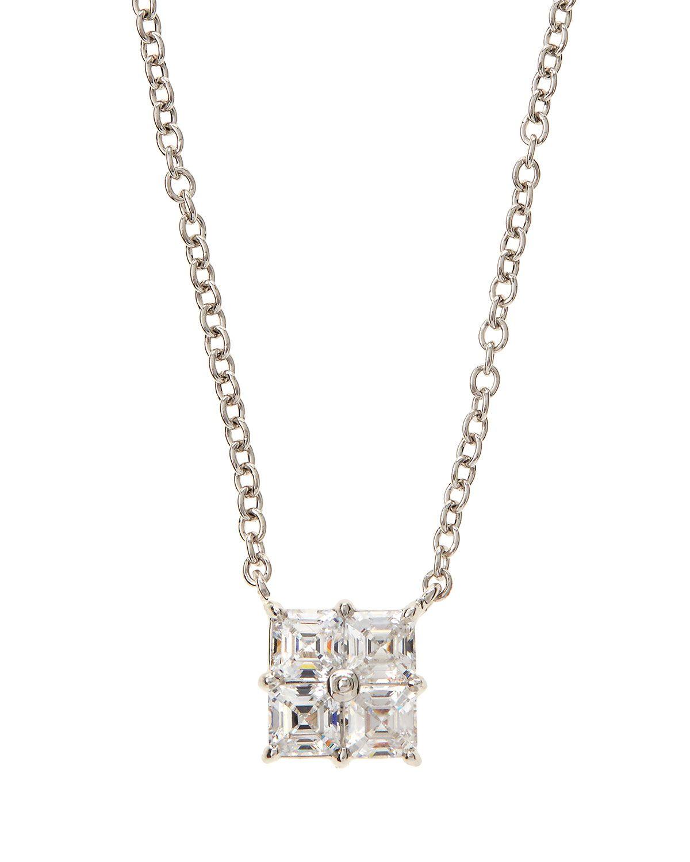 Fantasia CZ Princess-Cut Pendant Necklace QrRNCWrYt