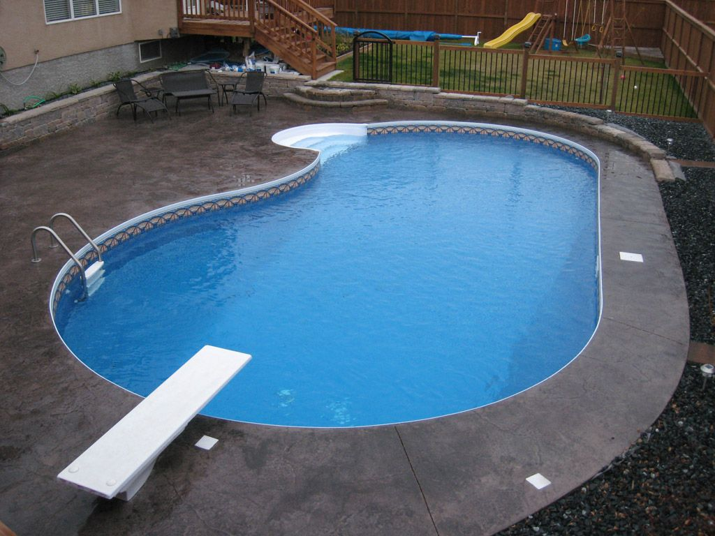 16 X 30 Flatback Kidney Swimming Pool Kit With 42 Steel Panels