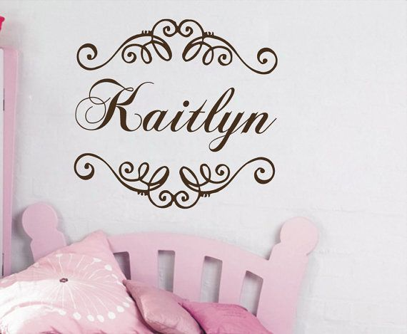 Wall Decals Name Personalized Custom Decal Frame Vinyl Sticker Art - Personalized custom vinyl wall decals for nursery