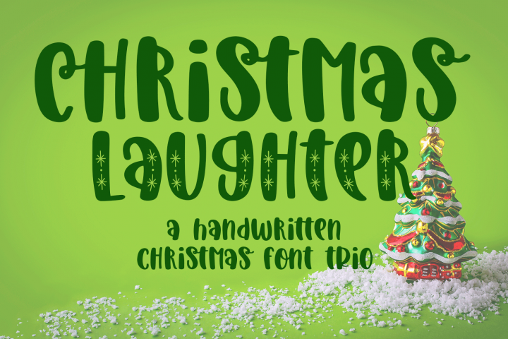Christmas Laughter A Holiday Hand Written Font Trio Christmas Fonts Cool Fonts Handwritten Christmas