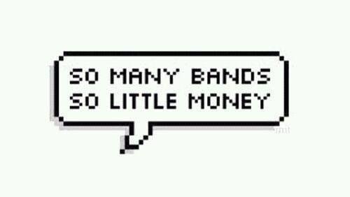 Soooo many bands.. <3
