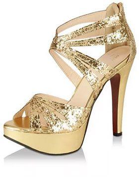 buy golden pumps online india | fashion model | Heels