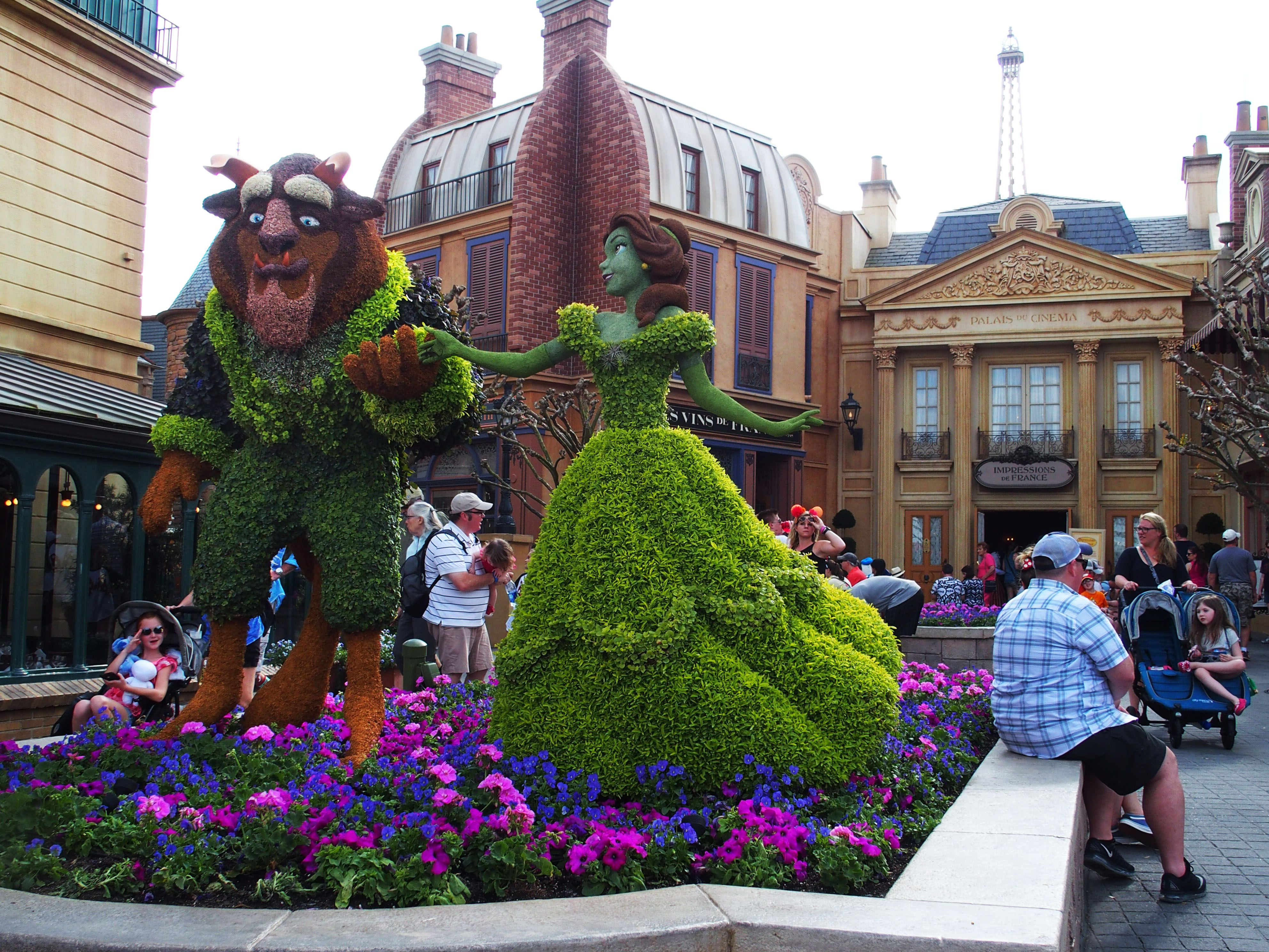 Beauty And The Beast Epcot 39 S Flower And Garden Festival 2017 Epcot 39 S Flower And Garden