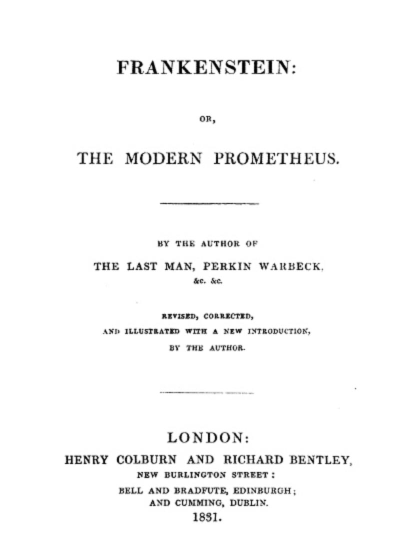 Frankenstein The Modern Prometheus Romantic Poetry Romanticism