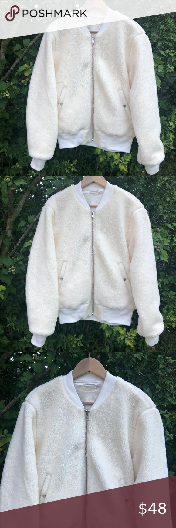 Skylar Madison Cream Sherpa Bomber Jacket Skylar Madison Cream Color Sherpa Bomber Jacket In A Women S Size M Bomber Jacket Jackets For Women Jackets [ 1740 x 580 Pixel ]