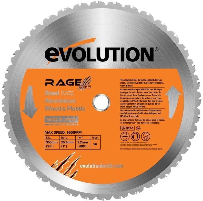 Evolution power tools rage 14 in multipurpose circular
