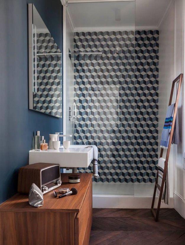 Les salles de bains vues sur pinterest decoration salle de - Carrelage salle de bains design ...