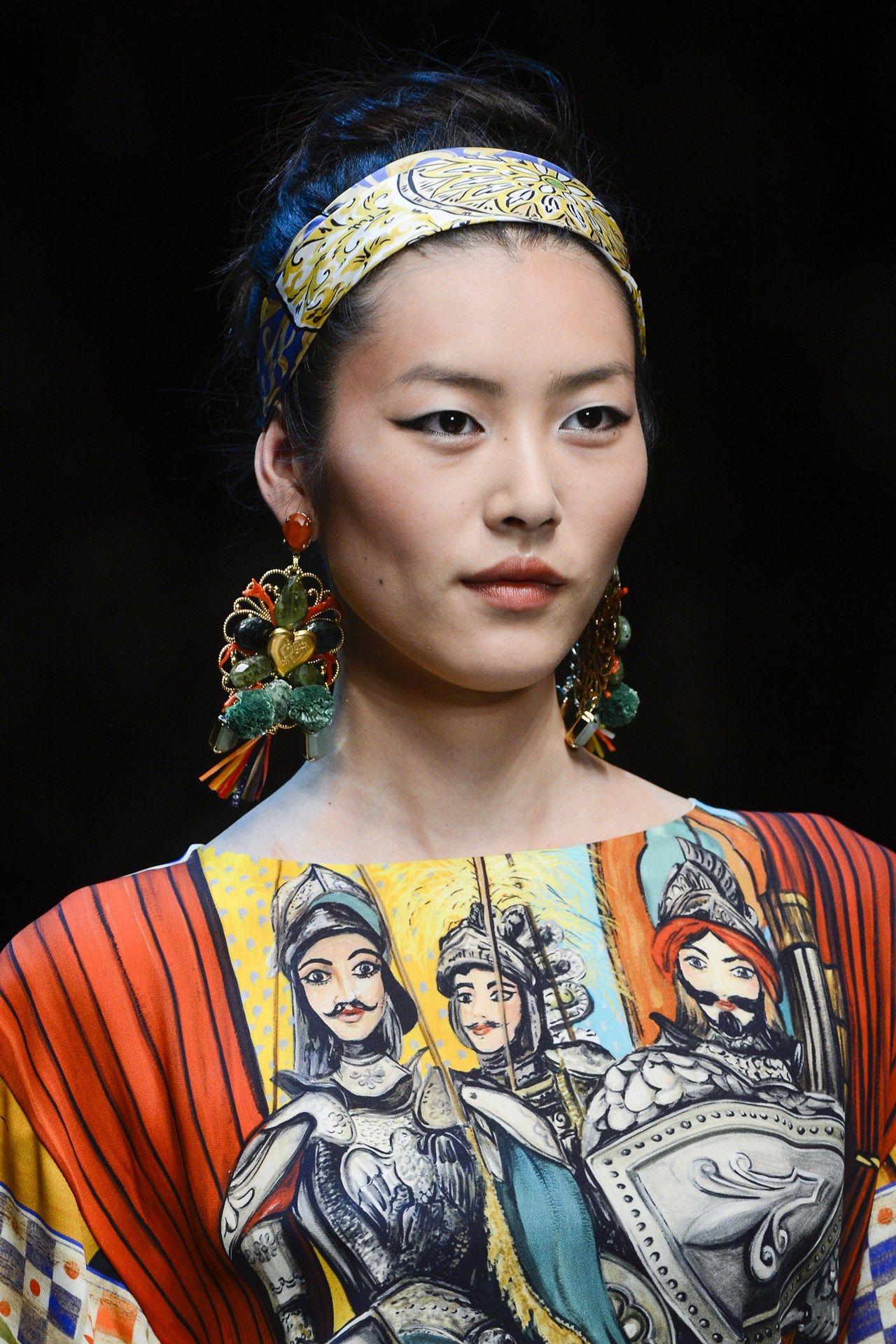 Liu Wen at Dolce & Gabbana Spring/Summer 2013