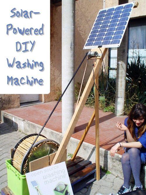 Solar Powered Diy Washing Machine Solar Power Diy Solar Solar Energy Diy