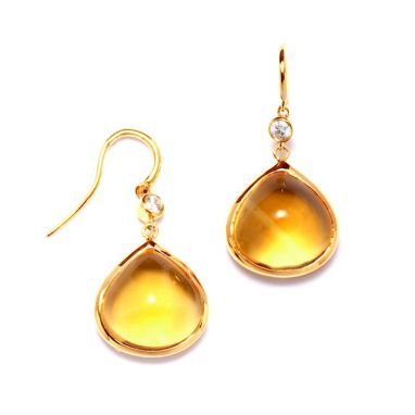 Syna 18kt Citrine Drop Earrings With Rubellite qQtiEfc2
