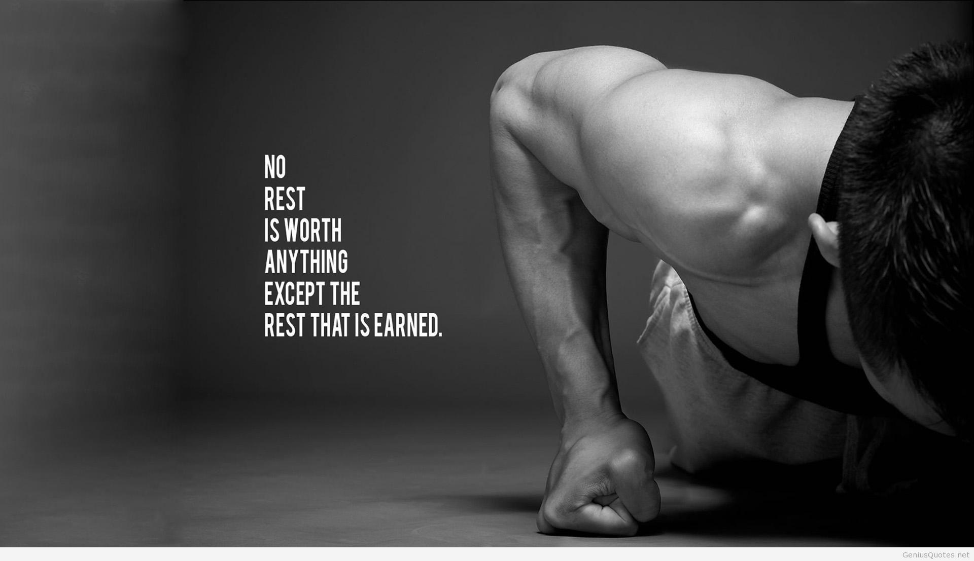 Bodybuilding Quote HD Wallpaper