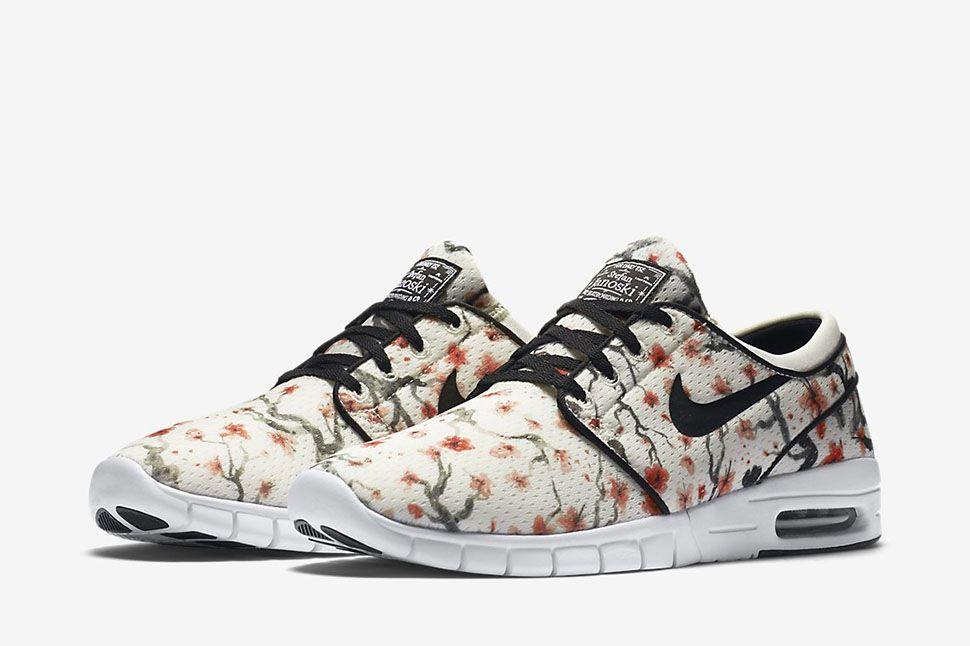 Nike Sb Janoski Air Max Schwarz & Floral Schuhe Herren