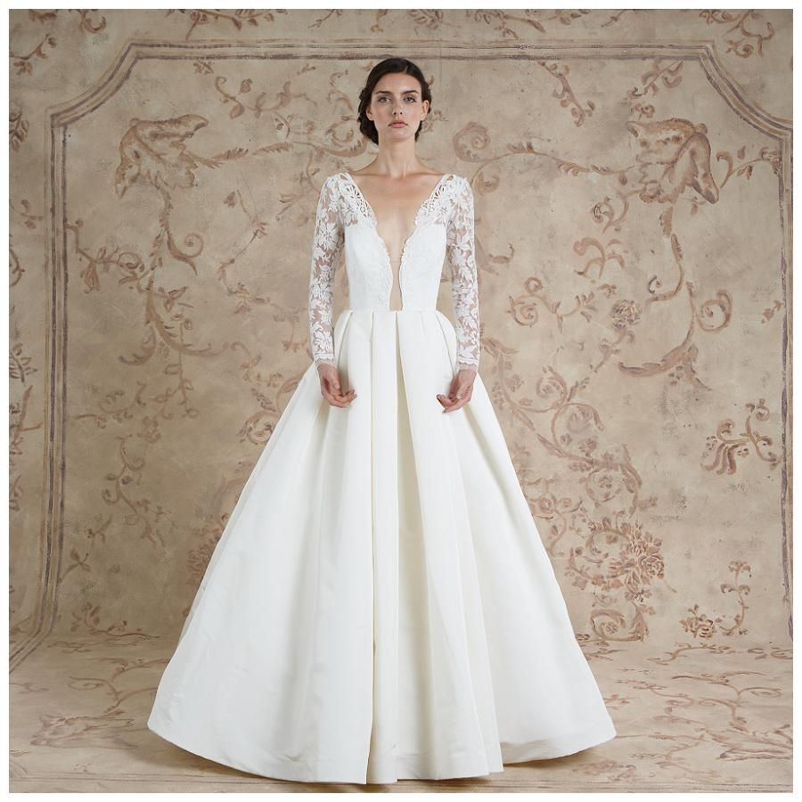 Wedding dress from the sareh nouri fall collection makeup by
