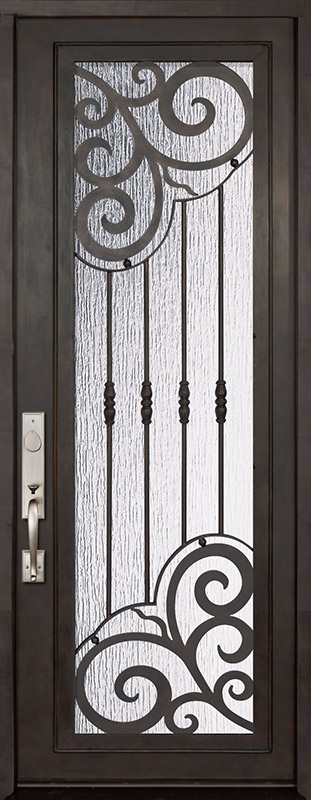36 X 96 Barcelona Full Lite Single Wrought Iron Entry Door Wrought Iron Doors Iron