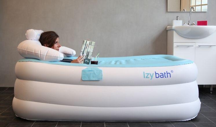 Aufblasbare Badewanne, Mobile Wanne, Tragbare Badewanne   Izybath Stellt  Eine Flexible, Aufblasbare Badewanne