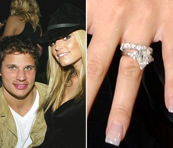 Jessica Simpsons first Engagement Ring with Nick Lachey These