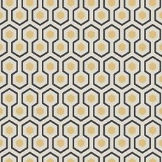 Papier peint - Cole and Son - Hicks Hexagon - Grey Black White ...