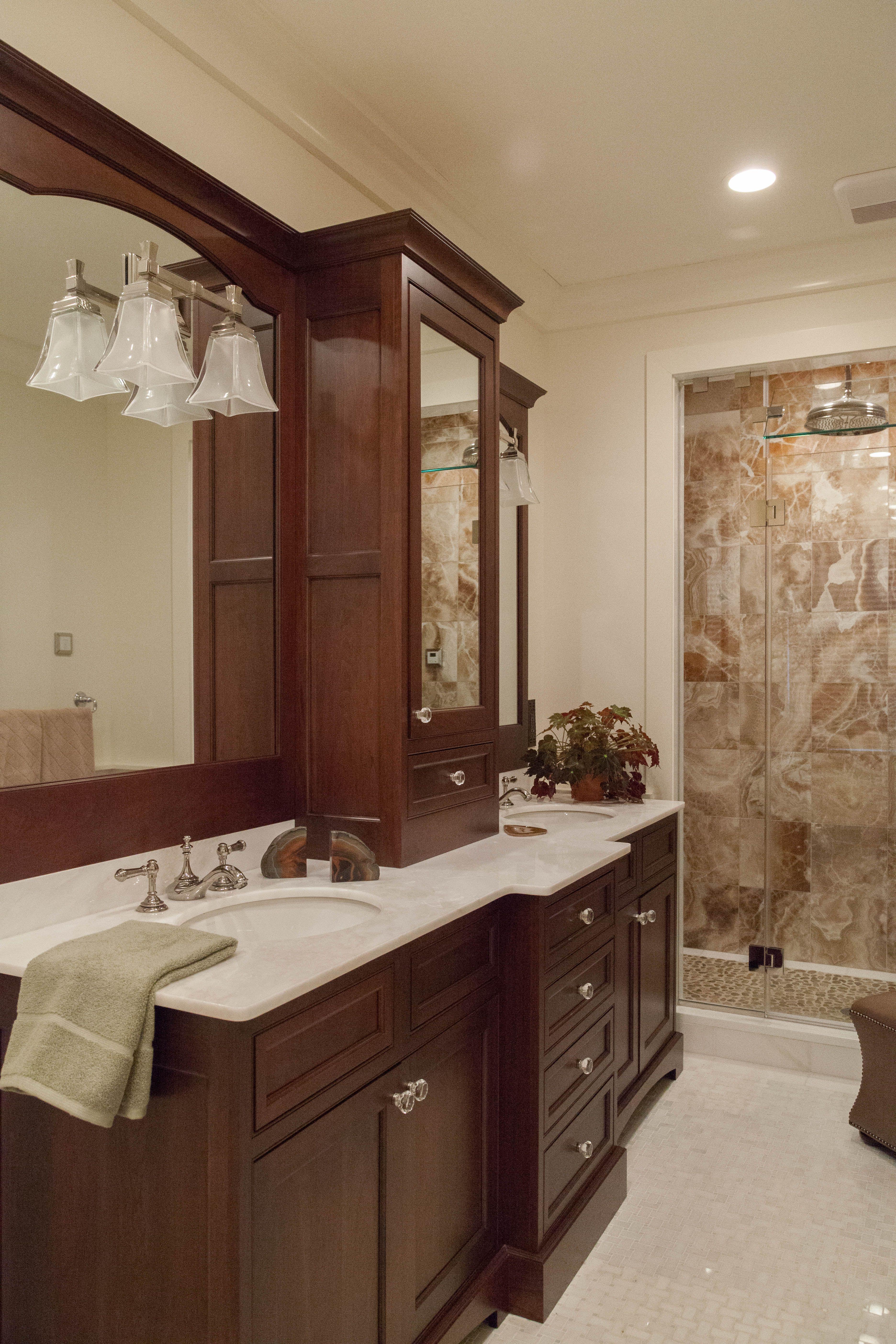 Lakeville designer Kathleen Fredrich designed a bathroom that