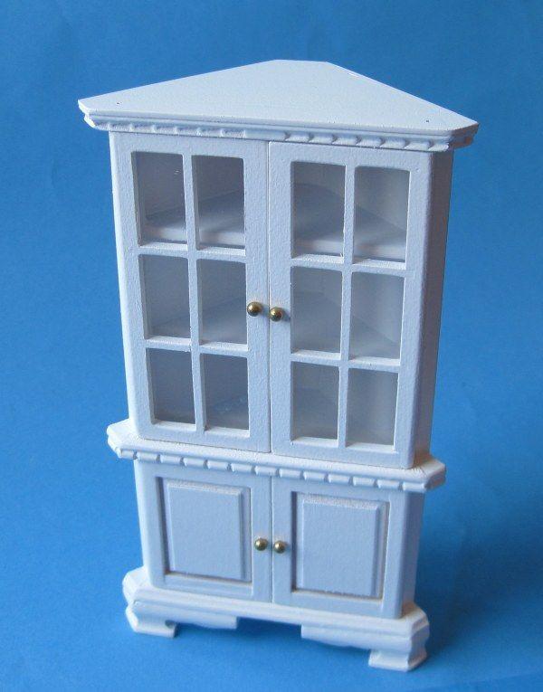 Eckschrank Vitrine für Puppenhaus Möbel Miniaturen 112 c27550 - barbie wohnzimmer möbel